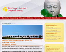 Screenshot ThaiYoga-Institut, Erfurt